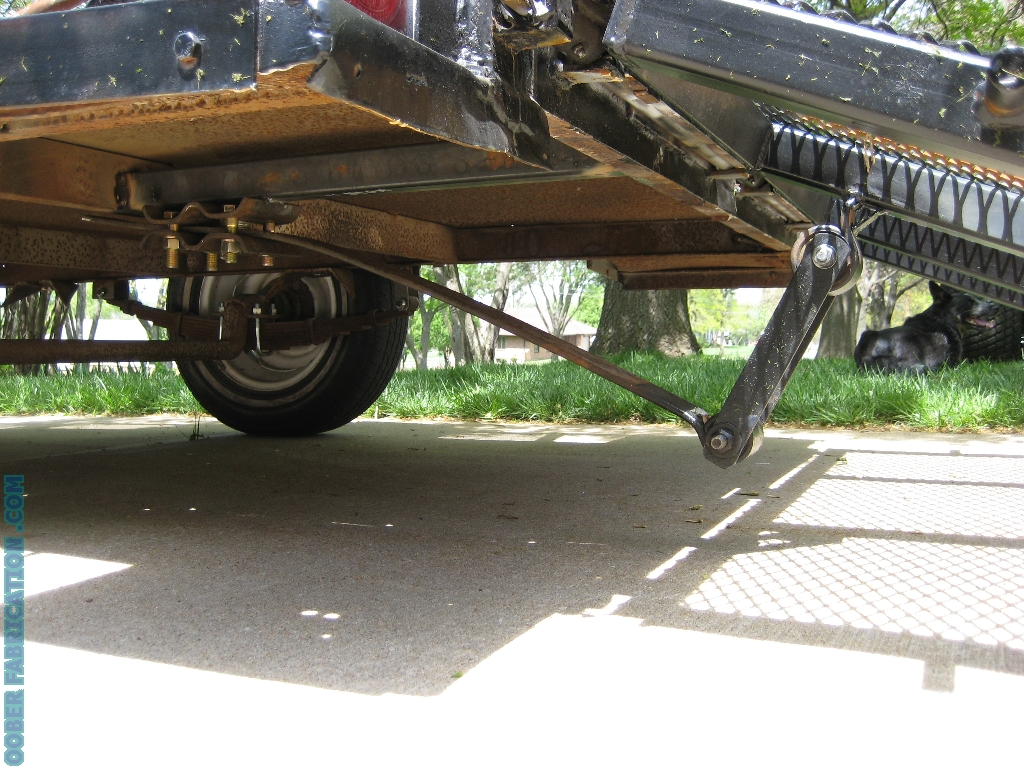 Self Lifting Trailer Tailgate Diy Metal Fabrication Com Homeade Tow Harness With In Down Position This Is My Favorite Part Of Design Because Unlike The Rail Mounted Springs There Are No Wires Attached To