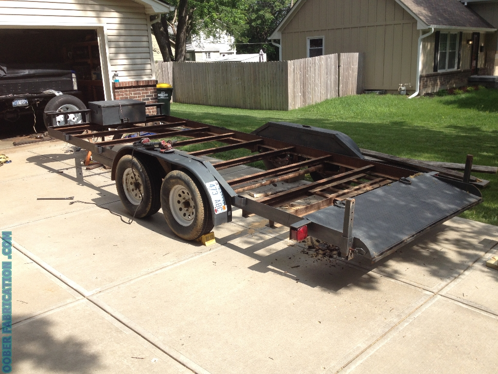 Wood Flatbed Trailer ~ How to replace wood deck on flatbed trailer diy metal