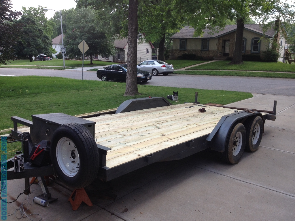 How to replace wood deck on flatbed trailer diy metal replace wood trailer deck baanklon Images