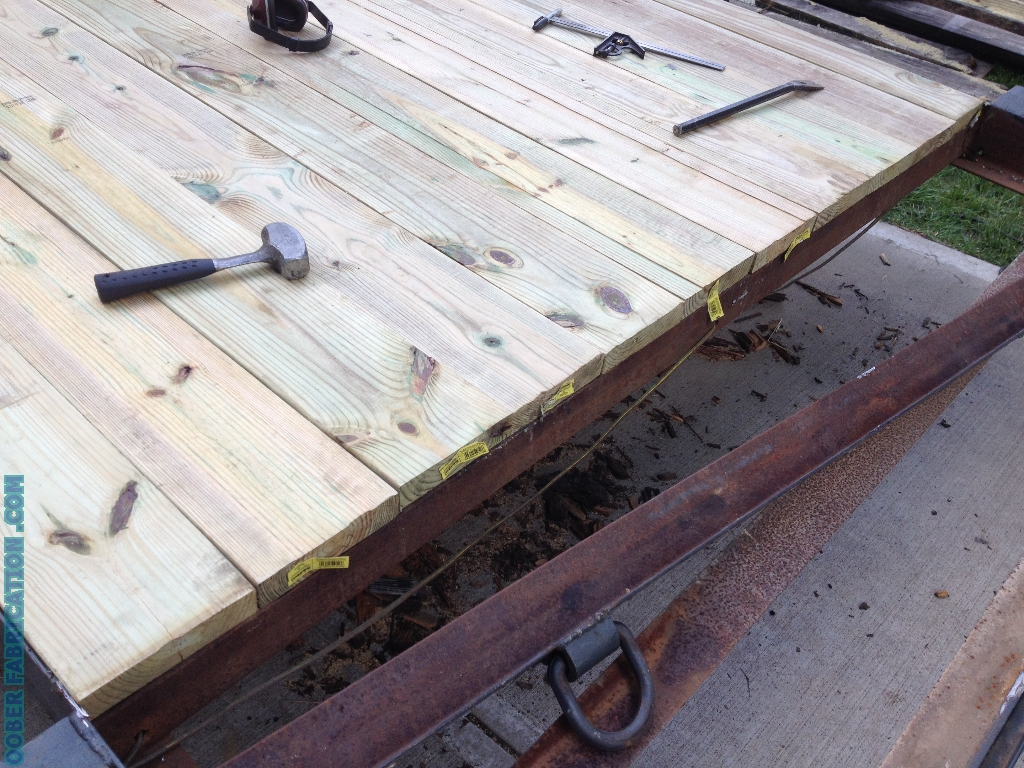 How to replace wood deck on flatbed trailer diy metal for Replacing wood floors