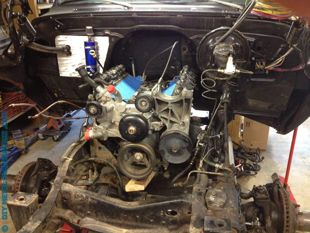 5.3 LS Engine Swap into Ol' Blue 1971 Chevy Truck Part 2 ...