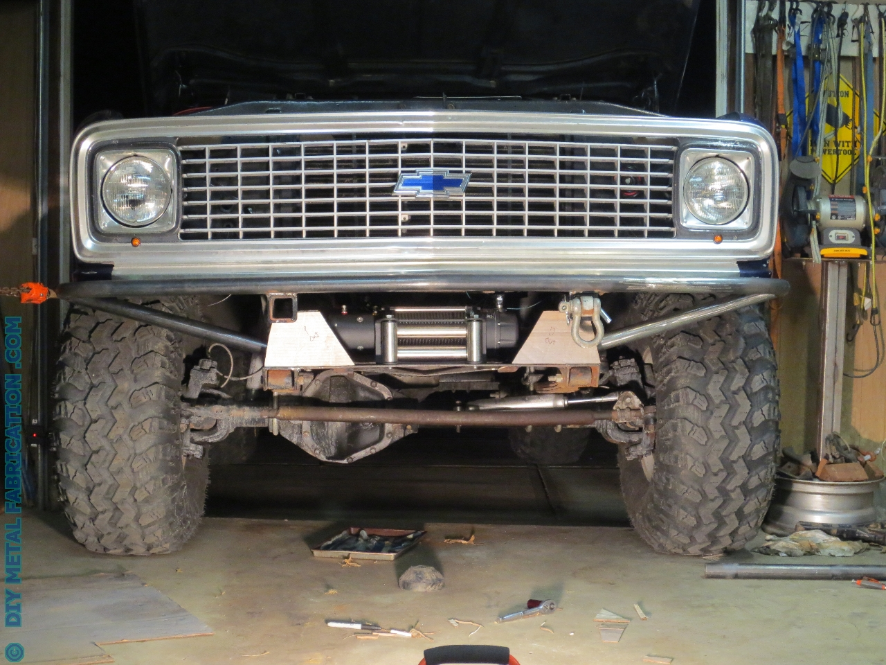 Custom Tube Front Bumper with Winch Mount for 'Ol Blue Part