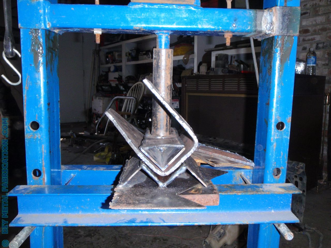 Metal Objects With Press Brake Made : Diy home made press brake metal fabrication