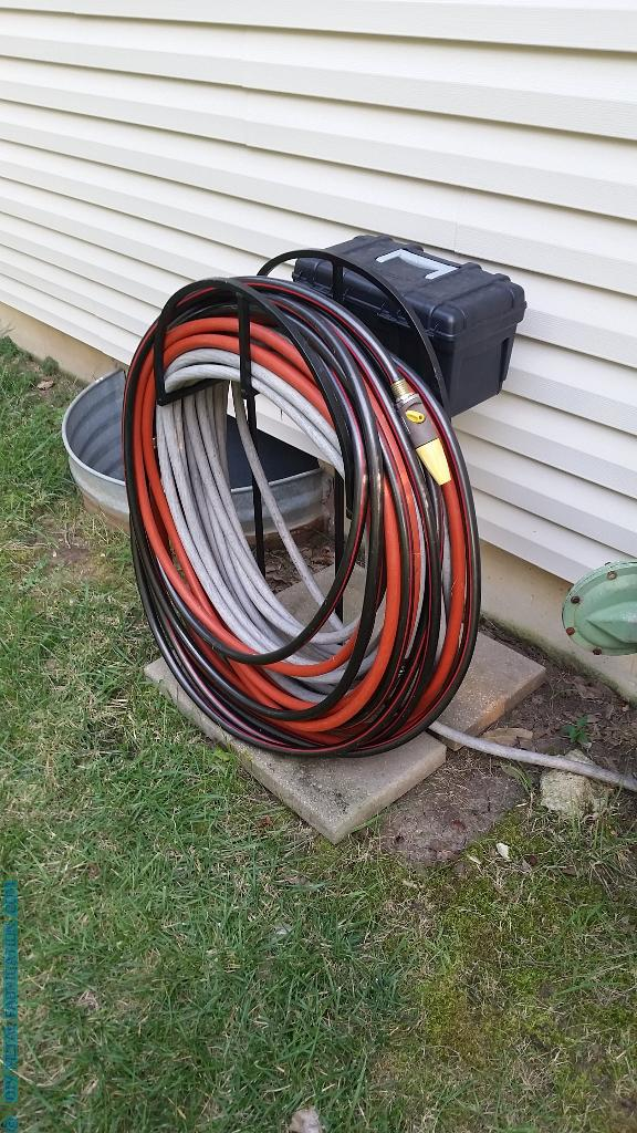 Diy Garden Hose Holder With Storage Diy Metal