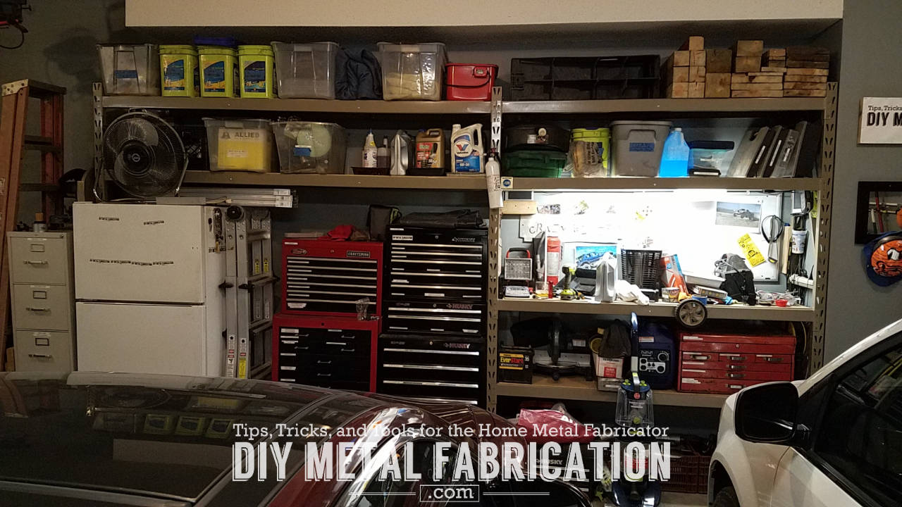 Diy metal fabrication moving installing new garage shelves diy diy metal fabrication moving new garage shelves solutioingenieria Image collections