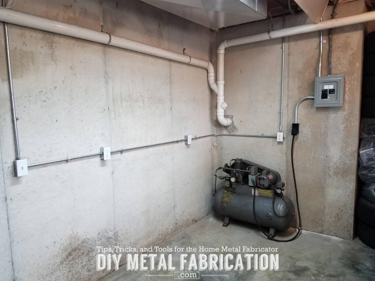 Running 220v To Garage For Welders And Compressors Diy Metal Wiring Welder
