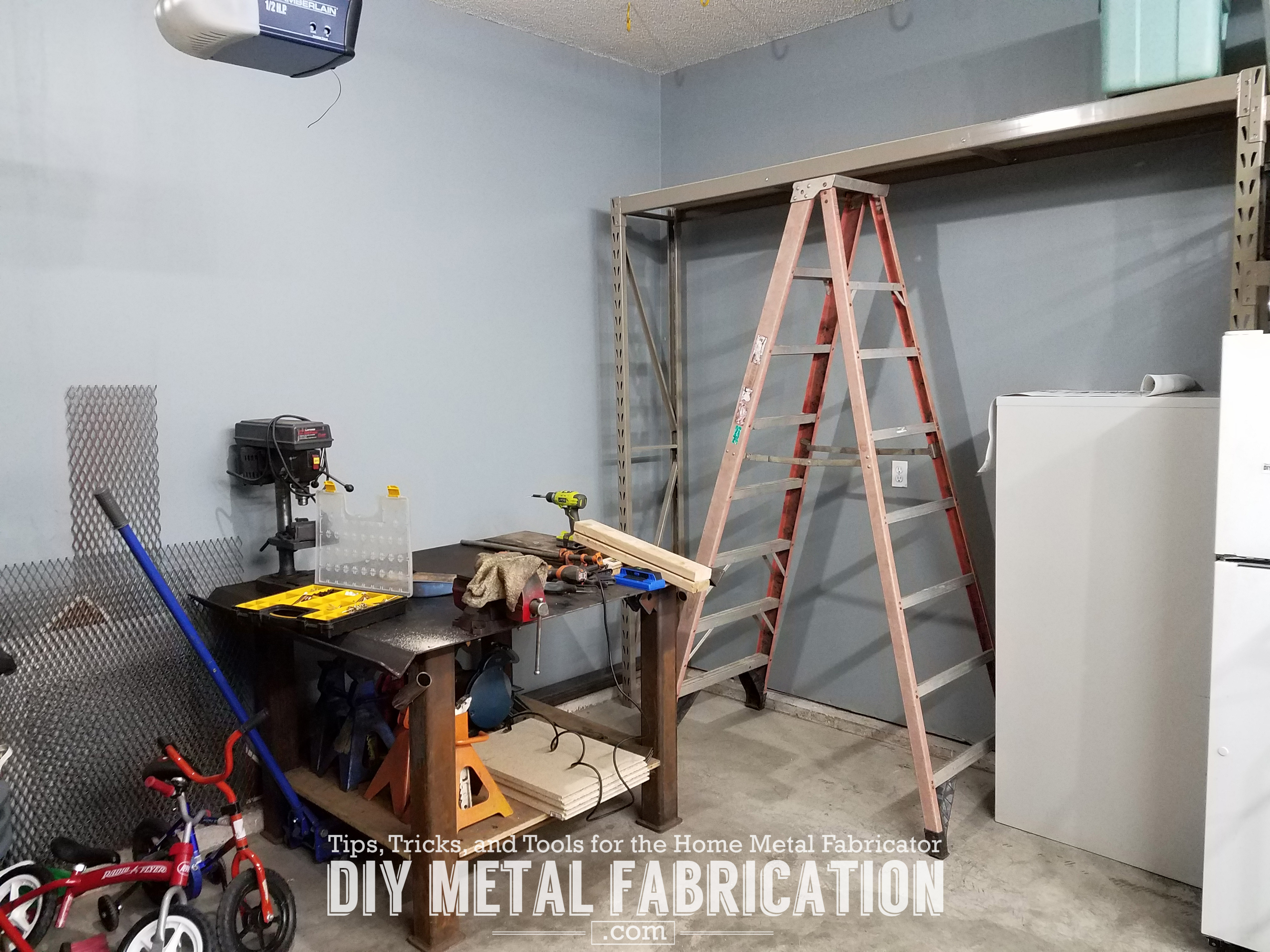 diy how to install garage air hose reel diy metal fabrication com. Black Bedroom Furniture Sets. Home Design Ideas